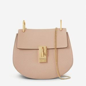 Chloe small drew bag in ice pink